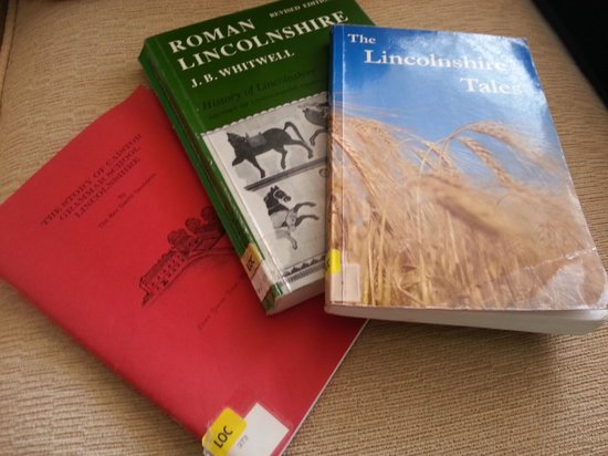 Caistor Arts and Heritage Centre: Local history books borrowed from the library.