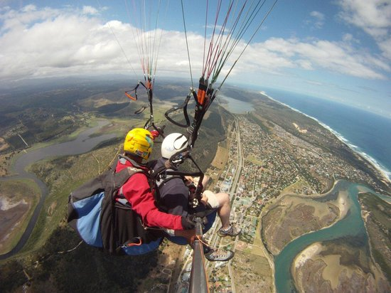 Cloudbase Paragliding: Cloudbase Tandem over Sedgefield