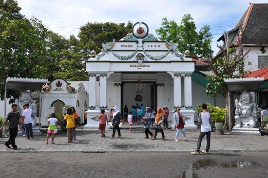 Kraton Ngayogyakarta Hadiningrat of the Yogyakarta Sultanate at the southern end of Jl Malioboro