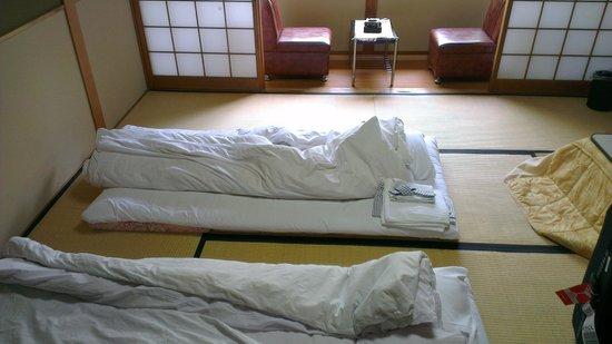 เรียวคัง ยามะซากิ: the room includes a balcony, bathroom, tv set and a kotatsu!