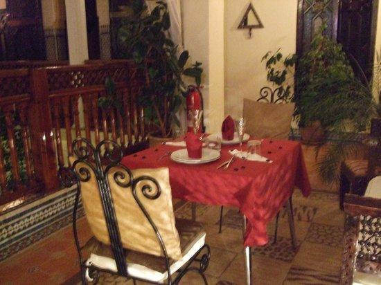 Riad 58 Blu: Dinner
