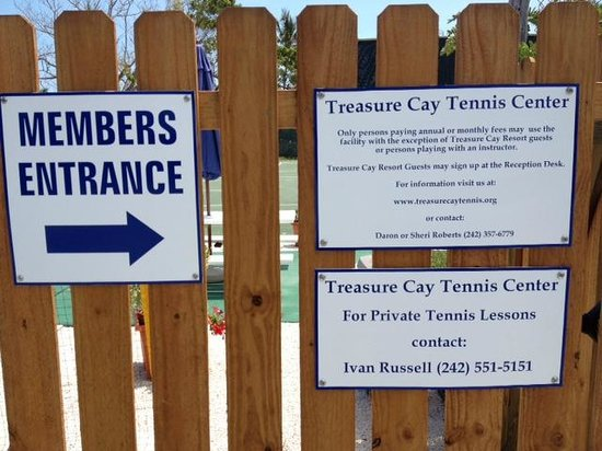 Treasure Cay Beach, Marina & Golf Resort: Tennis