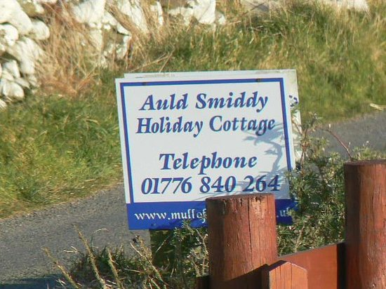 Mull of Galloway Holidays: The Sign.