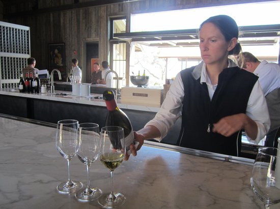 Ram's Gate Winery: wine being poured