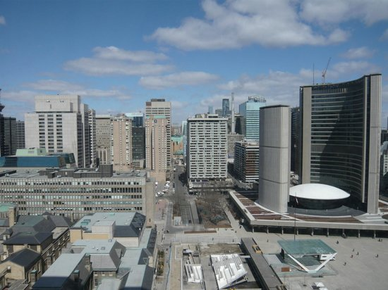 Sheraton Centre Toronto Hotel: View from bedroom window
