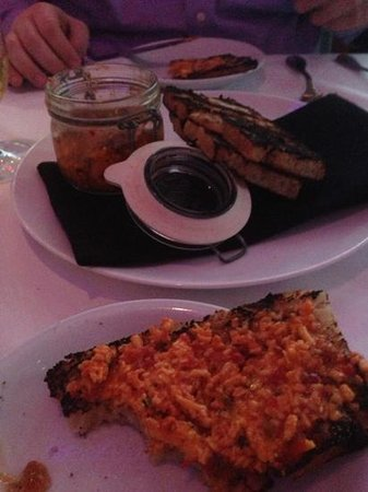 Cypress - A Lowcountry Grille: pimiento cheese and hot pepper jelly--pretty good