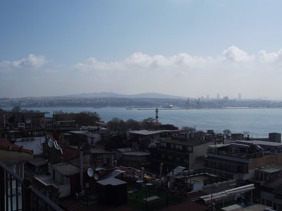 Cosmopolitan Park Hotel: View of the Bosphorus from the rooftop.