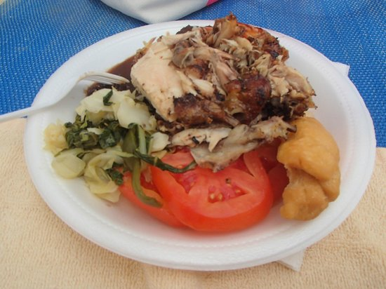 ClubHotel Riu Ocho Rios: Jerk Chicken from the beach