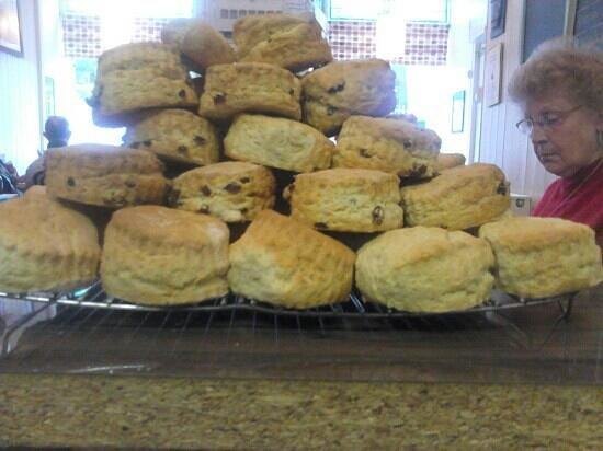 The Manor House Cafe: scones freshly made and cooling in a very tempting manner mmm nicer with church farm clotted cre