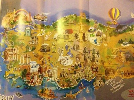 Walkabout Travel Istanbul / Day Tours: turkey map made it buy walkabout