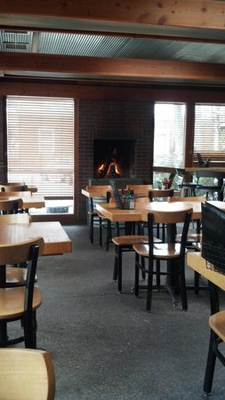 Washington Square Bar & Grill: fire side table