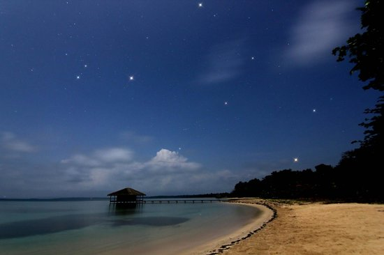 Isla Bastimentos, Panama: The view at night