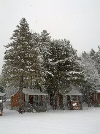 Anchorage House & Cottages: Snowy day