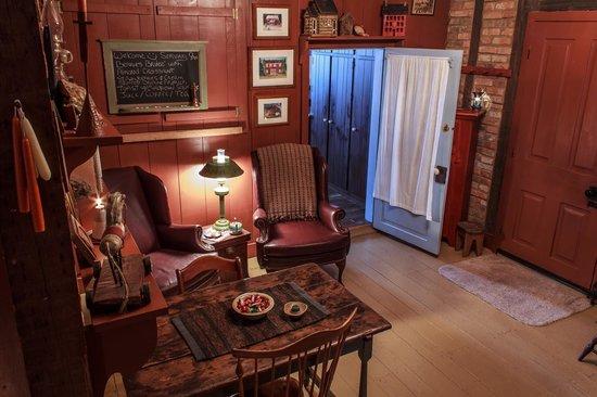 Zoar School Inn Bed and Breakfast: Dining/Sitting Area Board with Breakfast Menu