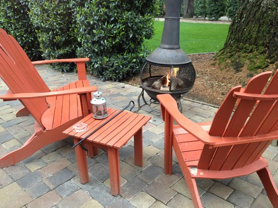 The Cottages of Napa Valley: our cozy fire pit