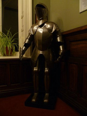 Palmers Lodge - Swiss Cottage: Suit of armour on the landing