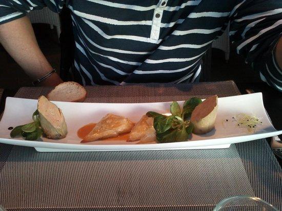 L'Auberge d'Arradon : foie gras maison et samoussas de langouste