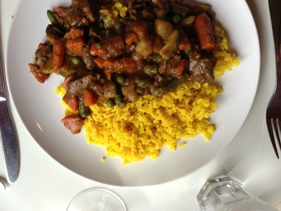 Karoo Restaurant: Curried lamb stew and saffron rice
