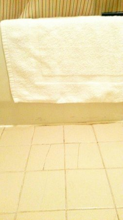 Extended Stay America - Dallas - Las Colinas - Green Park Dr.: Bathroom, cracked tiles