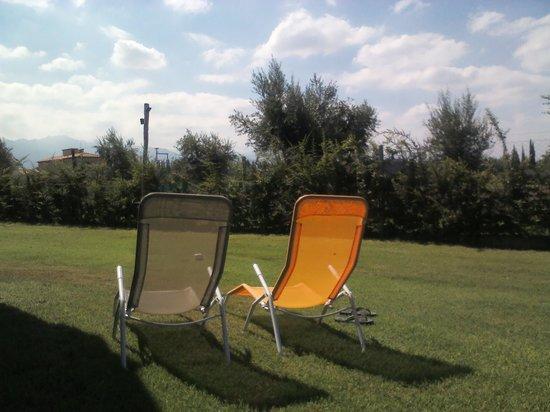 Villa Mansa Wine Hotel & Spa: parque detras de la habitacion