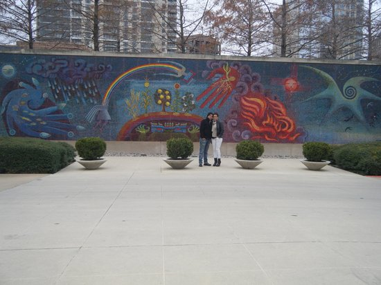 Mural enfrente de entrada picture of dallas museum of for Dallas mural artists
