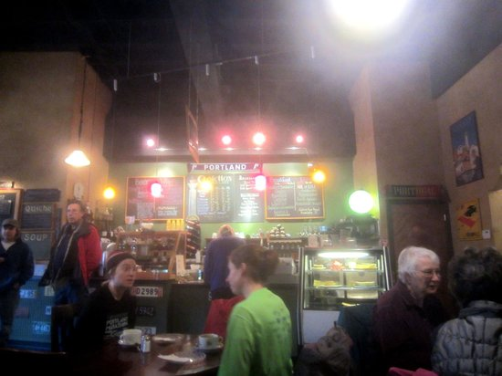 Costello's Travel Caffe: Please forgive the atmosphere, I didn't realize my lens was foggy.