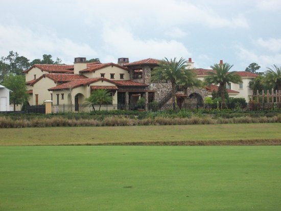 Disney's Osprey Ridge Golf Course: These are some of the million dollar homes that are being built across the lake.