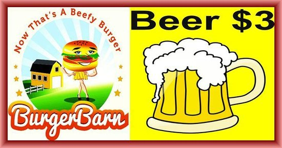 Burger Barn: come have a beer with your burger