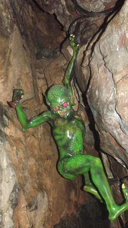 Cheddar Caves & Gorge: goblin in the coxs cave