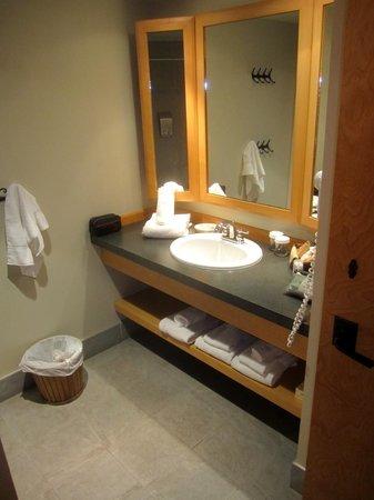 Auberge Duchesnay: modern bath