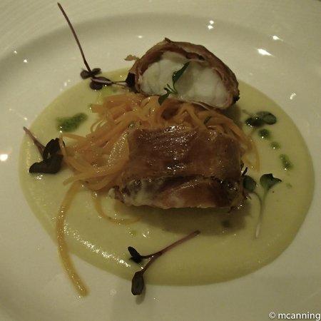 Altopalato: Monk-fish starter, just heavenly
