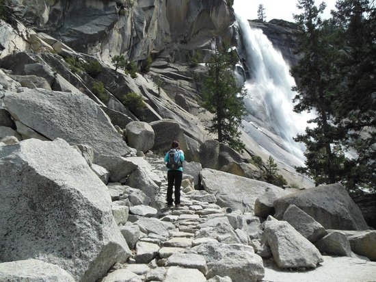 Mist Trail: On the way to the top of Nevada Falls