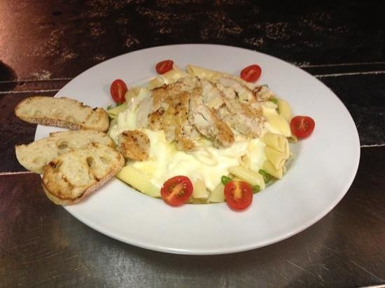 The Mark 5: chicken penne Alfredo