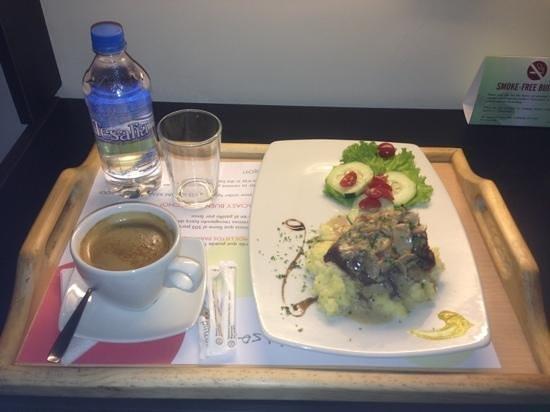 Hotel Finlandia: una delicia: Lomo fino de red con salsa de champiñones y tocino