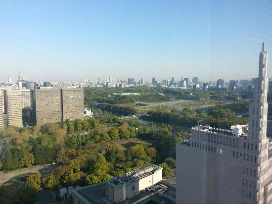 Imperial Hotel Tokyo: View of Hibiya Park and Imperial Palace from my room