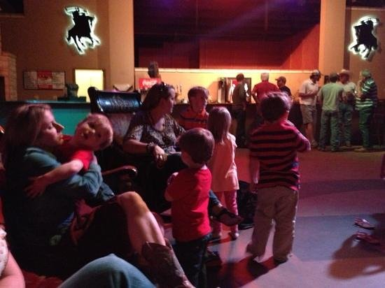 Crossfire Steakhouse & Cantina: kid friendly - little ones can dance and play