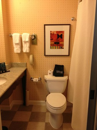 Kimpton Hotel Monaco Salt Lake City: Bathroon a tad small but clean current