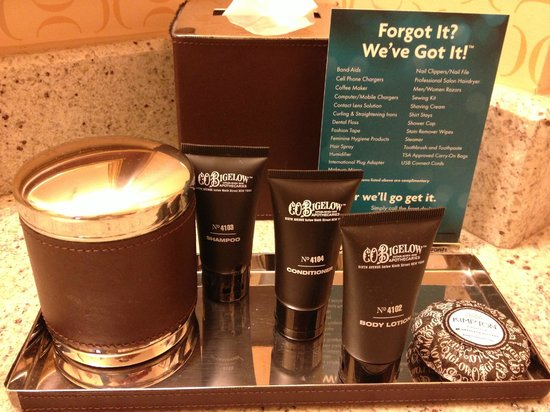 Kimpton Hotel Monaco Salt Lake City: C.O. Bigelow products