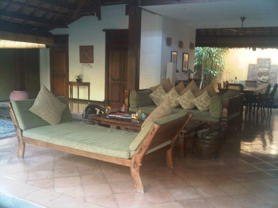 Villa Kubu Boutique Hotel & Spa: Living Room