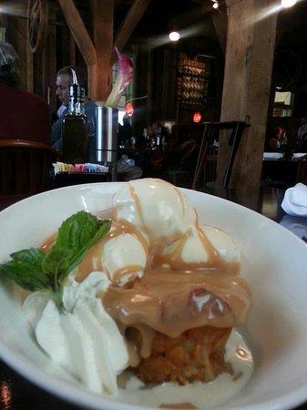 Magnolia's at the Mill: bread pudding