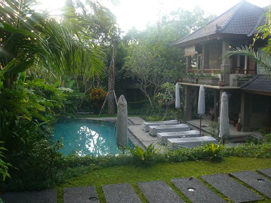 De Munut Balinese Resort: The pool seen from our room