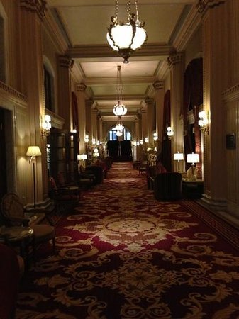 Willard InterContinental Washington: Hotel内の廊下もゴージャス