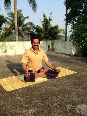 Pattarumadom Ayurveda: Suresh, the yoga instructor. each morning we did yoga asana, breathing, meditation and philosoph