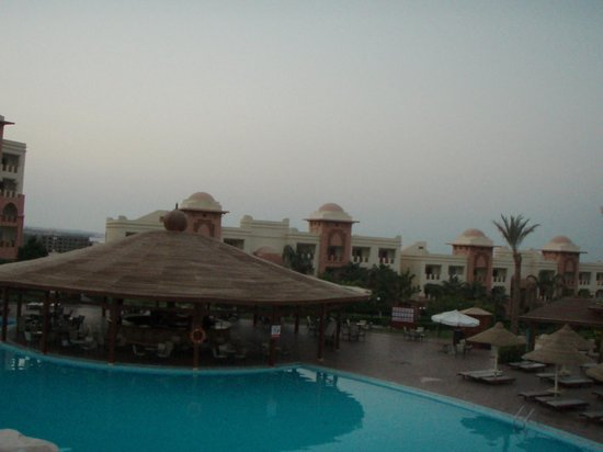The main pool with main bar