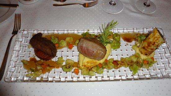 Hotel Heinitzburg: Eland-Filets im Leo's (Gourmet Menü)