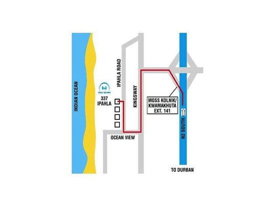 Ocean Hideaway B&B : Ocean Hideaway Location
