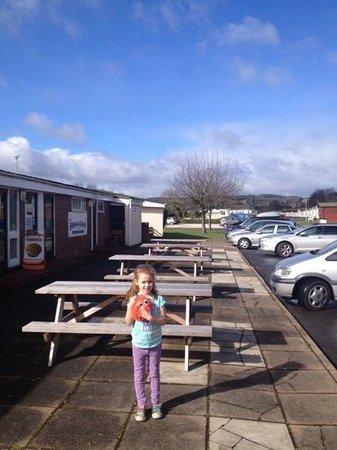 Hazelwood Holiday Park: chip shop, launderette.