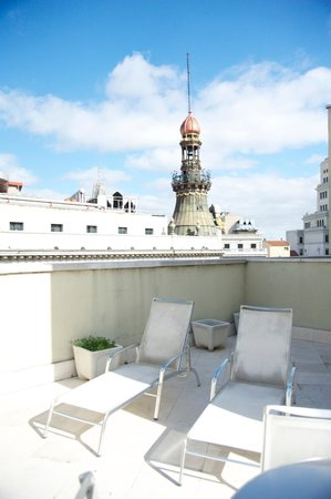Quatro Puerta del Sol Hotel: View from the terrace of 701