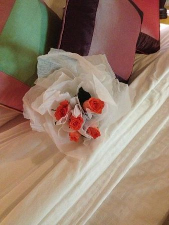 Pilgrimage Village : The beautiful roses presented to me on our 40th wedding anniversary