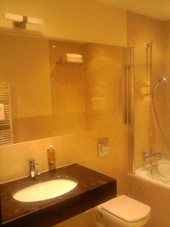 Europeum Hotel: BAGNO CON VASCA/DOCCIA